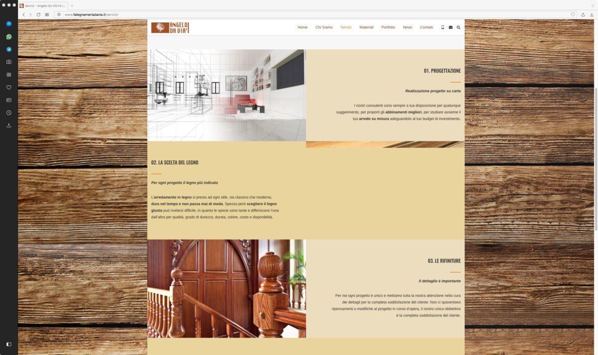 Falegnameria sito web servizi