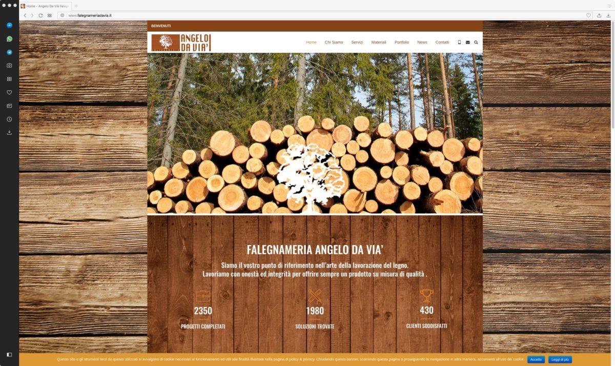 Falegnameria sito web home